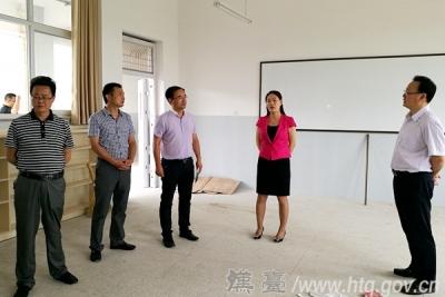 郑雪梅检查推进思源实验学校项目建设