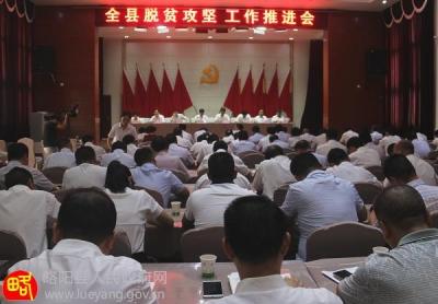 略阳县召开全县脱贫攻坚工作推进会 杨瑞良出席并讲话